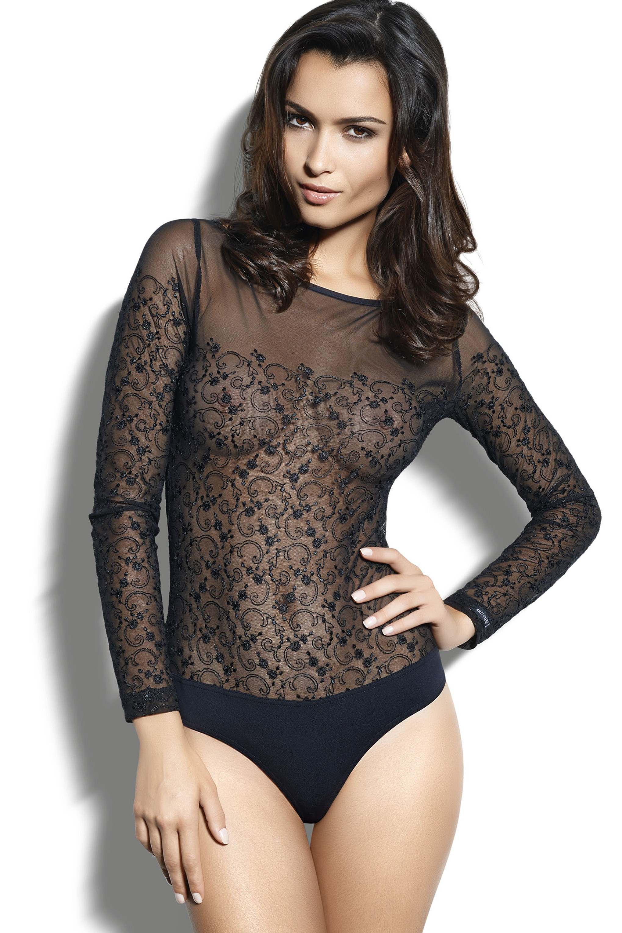 embroidered tulle body - anti-flirt