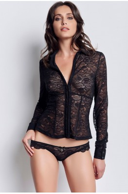 Lace Shirt Bustier