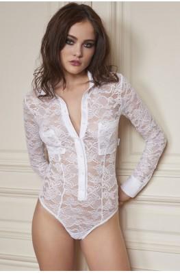 Body chemise en dentelle