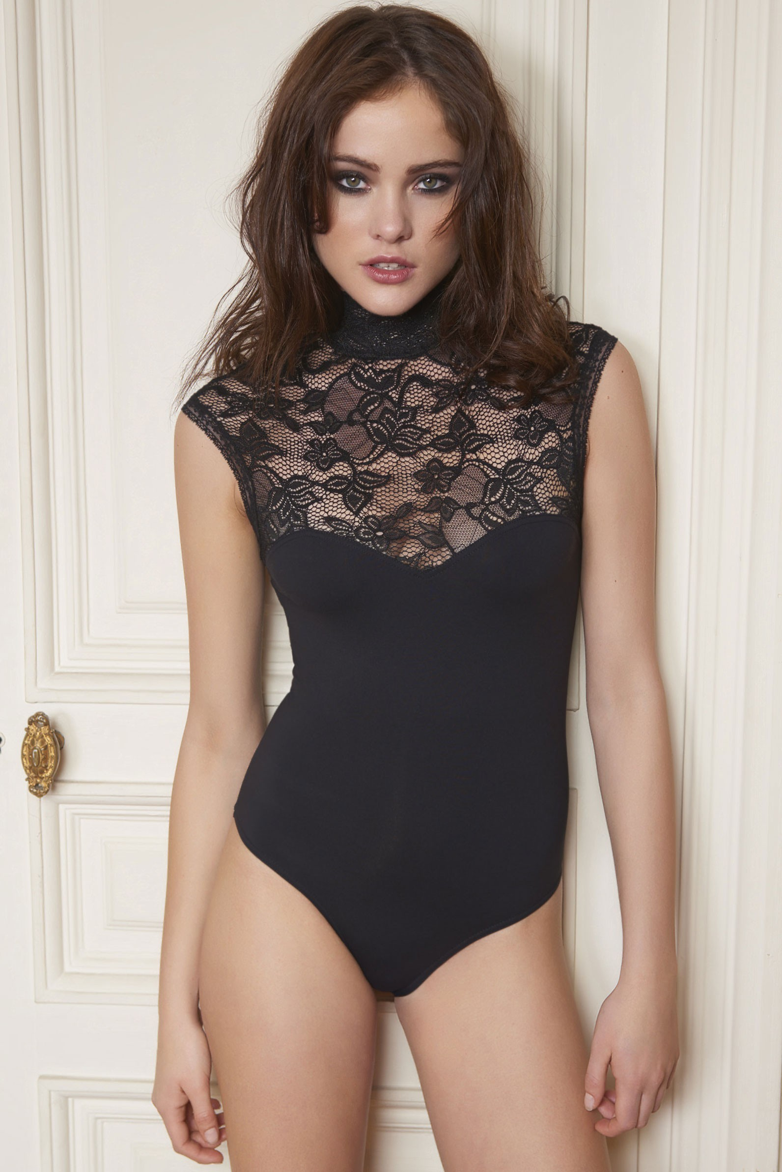 Lace and Jersey Bodysuit - Anti-flirt 47493157498
