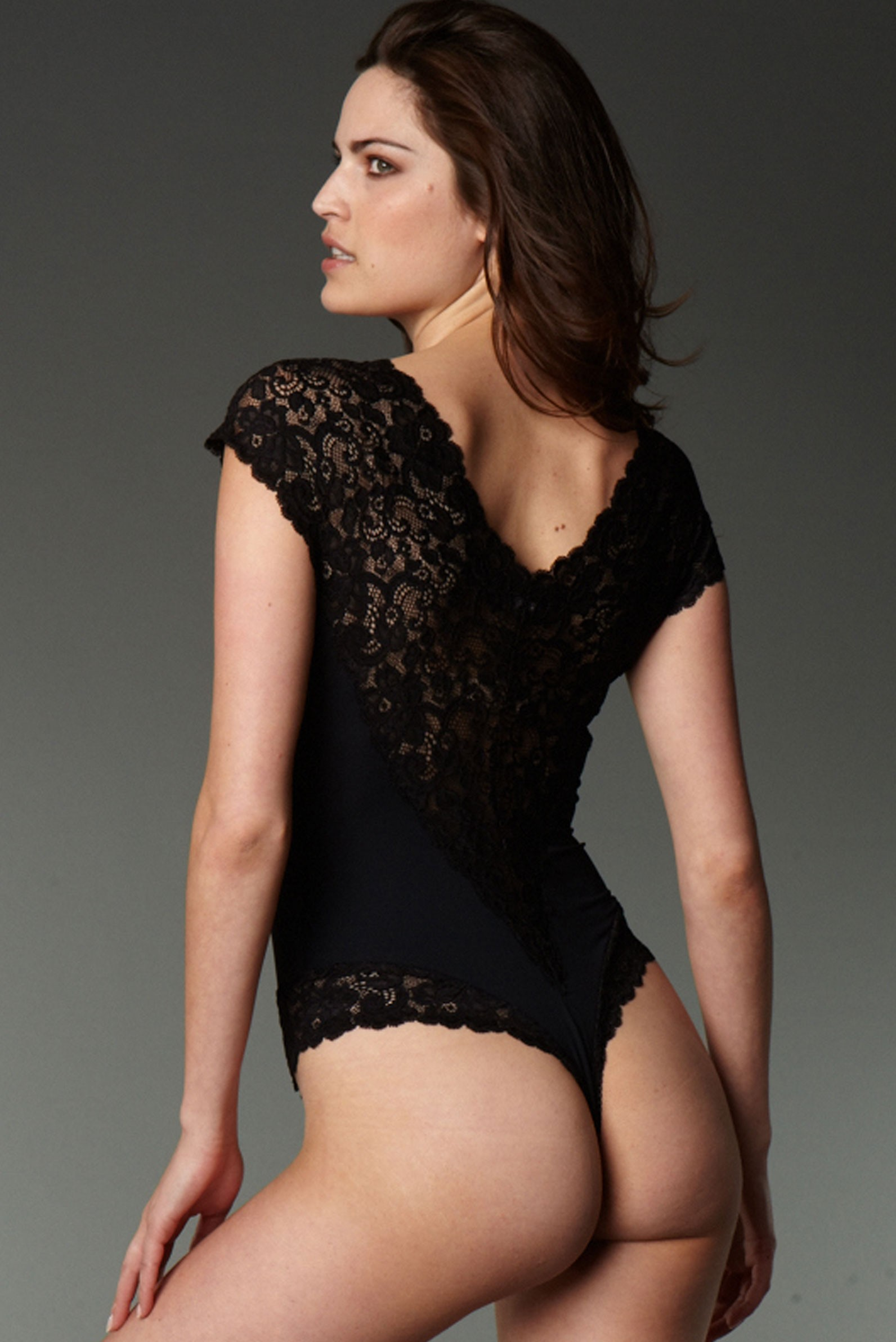 bodysuit string jersey and lace anti flirt. Black Bedroom Furniture Sets. Home Design Ideas