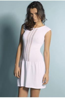 Openwork knit tank top dress
